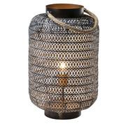 Bodenleuchte - Goldfarben/Schwarz, LIFESTYLE, Textil/Metall (30/47/30cm) - Kare-Design
