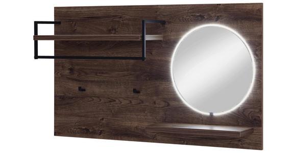 GARDEROBENPANEEL 135/80/27 cm  - Eichefarben, Design, Glas/Holzwerkstoff (135/80/27cm) - Voleo