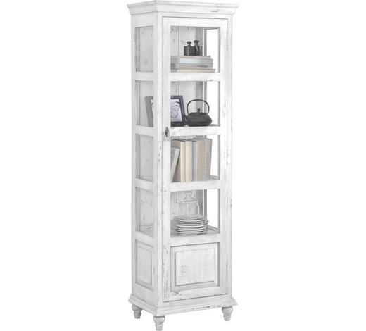 VITRÍNA, bílá - bílá/černá, Trend, kov/dřevo (48/164/33cm) - Ambia Home