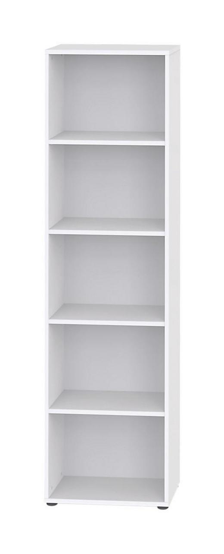REGAL Weiß - Schwarz/Weiß, Design, Holz/Kunststoff (50/195,5/32,5cm) - WELNOVA