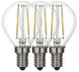 LED-Leuchtmittel E14 - Klar, Basics, Glas/Metall (4,5/7,6cm) - Boxxx