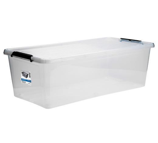 BOX MIT DECKEL 76/39/25 cm  - Transparent, Basics, Kunststoff (76/39/25cm) - Plast 1