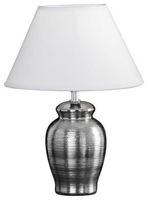 BORDSLAMPA - vit/kromfärg, Design, textil/keramik (22/30cm) - Boxxx