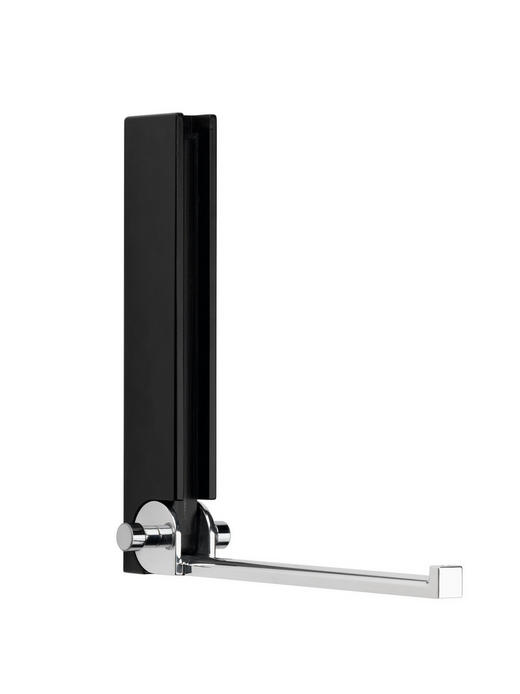 WANDHAKEN - Schwarz, Design, Holz (15/18/5cm)