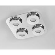 LED-DECKENLEUCHTE - Chromfarben, Design, Kunststoff/Metall (44/44/7cm) - Joop!
