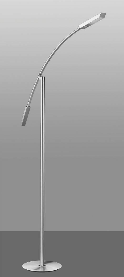 LED-STEHLEUCHTE - Nickelfarben, Design, Metall (104,0/140,0cm)