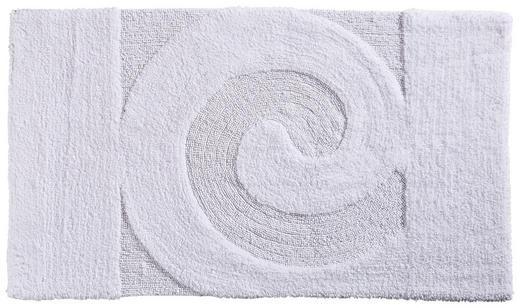 BADTEPPICH  Weiß  60/100 cm - Weiß, Basics, Kunststoff/Textil (60/100cm) - Ambiente