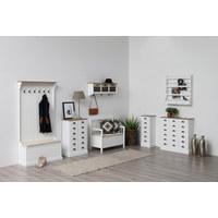 KOMODA - bijela/boje mjeda, Lifestyle, metal/drvo (60/90/30cm) - Landscape
