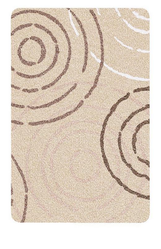 BADTEPPICH in Beige - Beige, KONVENTIONELL, Kunststoff/Textil (70/2/120cm) - Kleine Wolke