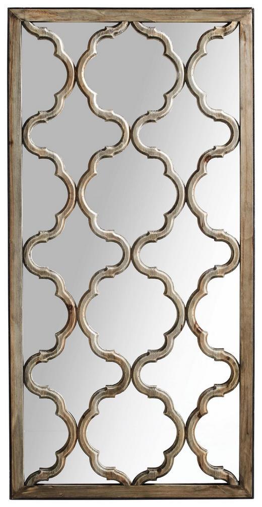 SPIEGEL Tanne - Braun, Glas/Holz (61/122/2,5cm)