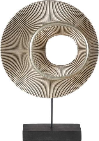 PLASTIKA - černá, Design, kov/dřevo (25/36/6cm) - Ambia Home
