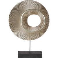 SKULPTUR - Schwarz, Design, Holz/Metall (25/36/6cm) - Ambia Home
