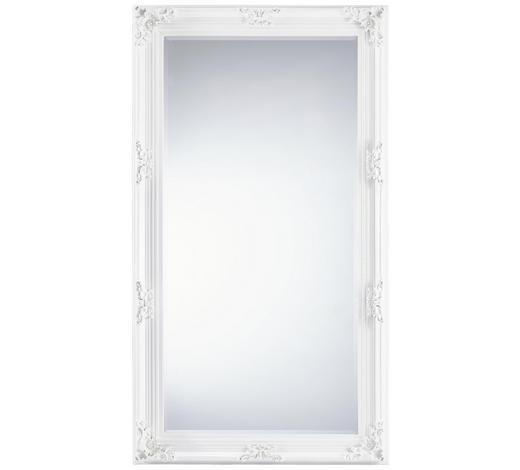 OGLEDALO, 100/180/7,5 cm les, steklo, leseni material  - bela, Trendi, steklo/leseni material (100/180/7,5cm) - Landscape