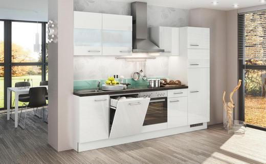 KÜCHENBLOCK E-Geräte, Soft-Close-System, Spüle - Weiß, Design (280cm) - Stylife