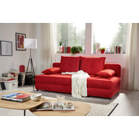 SCHLAFSOFA in Rot Textil - Rot/Schwarz, Design, Kunststoff/Textil (208/73-90/102cm) - Hom`in