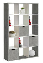 RAUMTEILER Grau, Weiß - Weiß/Grau, Basics (110/181/34cm) - CARRYHOME