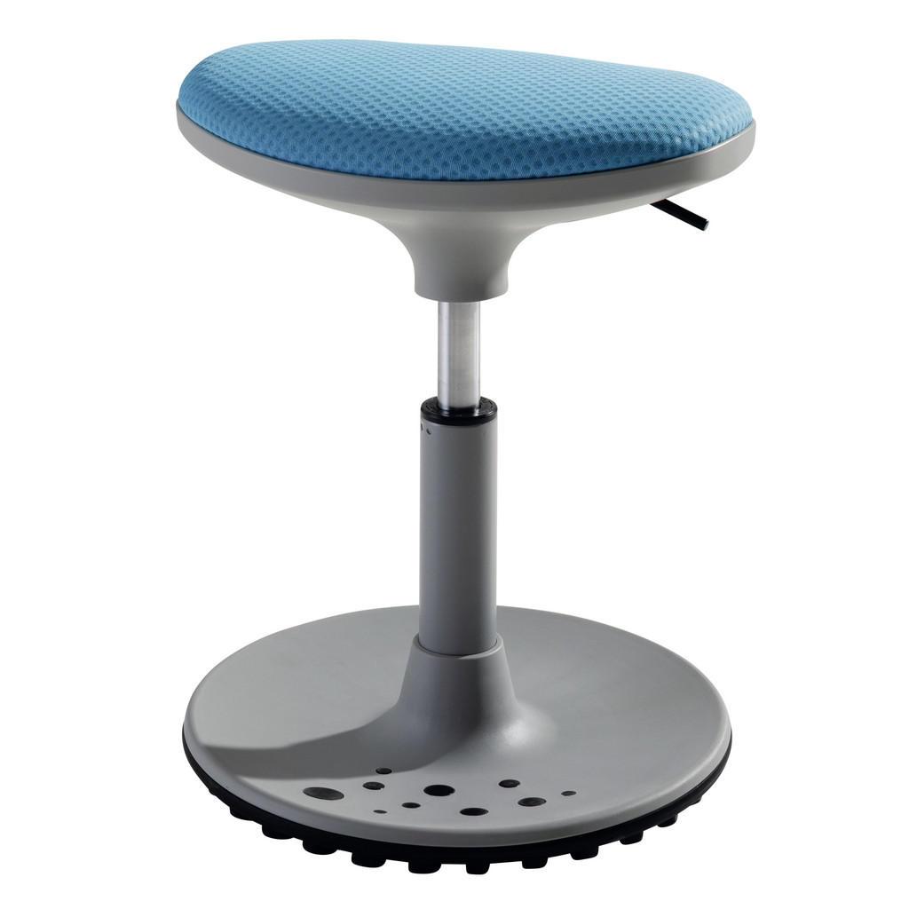 Paidi Bürohocker , Blau, Grau , Metall, Kunststoff, Textil , 38x48x27.5 cm , Oeko-Tex® Standard 100 , Arbeitszimmer, Bürostühle, Chefsessel