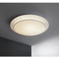 STROPNA LED SVETILKA VELDEN - bela, Design, umetna masa (51/12cm) - Novel