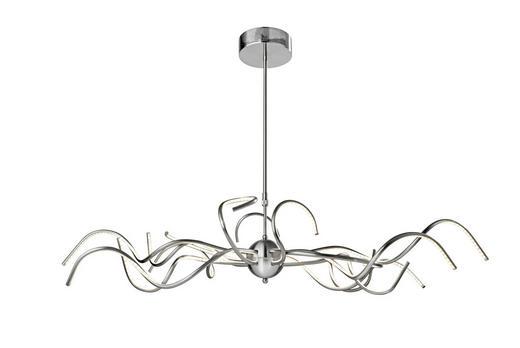 LED-HÄNGELEUCHTE - Alufarben, LIFESTYLE, Metall (130/80/50cm)