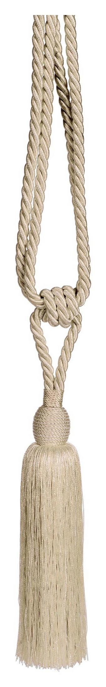 PRIVEZ ZA ZAVESO LUCY - naravna, Konvencionalno, tekstil (70cm) - Boxxx
