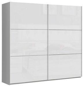 ORMAR - VISEĆA KLIZNA VRATA - Bela, Dizajnerski, Metal/Pločasti materijal (220/209,7/61,2cm) - Carryhome