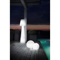 AUßENKUGELLEUCHTE Weiß, Transparent - Transparent/Weiß, Design, Kunststoff (30cm)