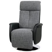 TV-FOTELJ  črna, siva tekstil, umetna masa - črna/siva, Design, kovina/umetna masa (71/111-86/81-156cm) - Xora