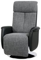TV-FOTELJ,  črna, siva tekstil, umetna masa - črna/siva, Design, kovina/umetna masa (71/111-86/81-156cm) - Xora