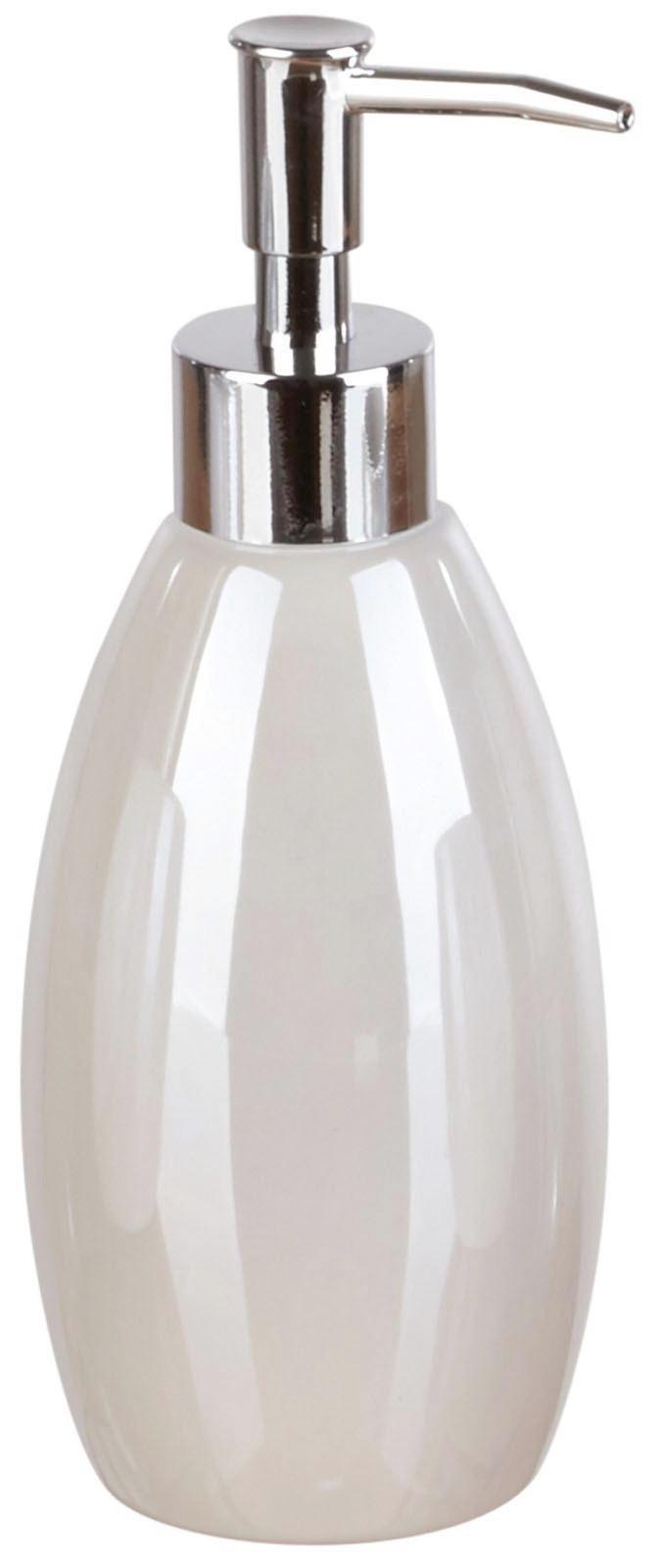 DÁVKOVAČ MÝDLA - bílá, Basics, keramika (7,4/19cm)