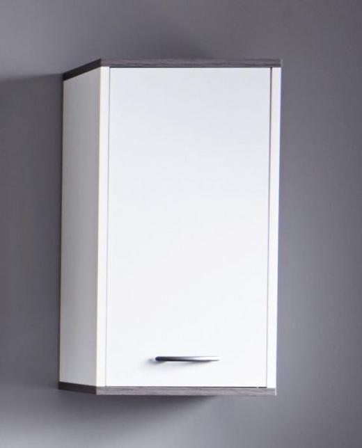 HÄNGESCHRANK Weiß - Silberfarben/Weiß, KONVENTIONELL, Holzwerkstoff/Kunststoff (32/60/21cm) - Xora