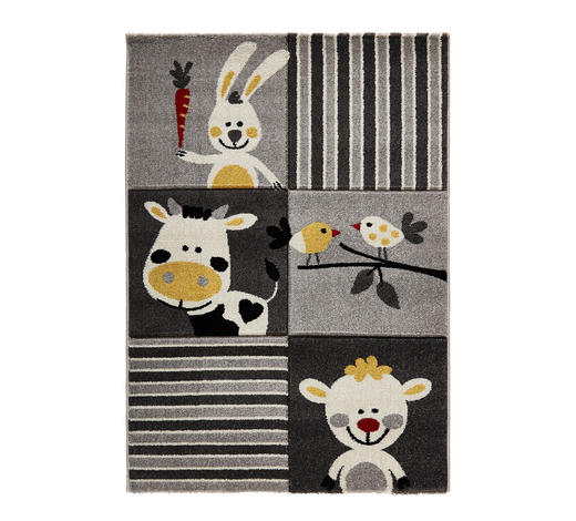 KINDERTEPPICH  80/150 cm  Gelb, Grau - Gelb/Grau, Trend, Textil/Weitere Naturmaterialien (80/150cm) - Ben'n'jen