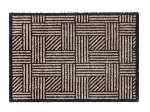 FUßMATTE 50/70 cm - Anthrazit/Beige, Design, Textil (50/70cm) - Schöner Wohnen
