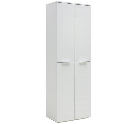 GARDEROBENSCHRANK 65,4/200/40 cm - Chromfarben/Weiß, Design, Holzwerkstoff/Metall (65,4/200/40cm) - Hom`in