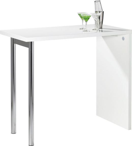 BARTISCH rechteckig Chromfarben, Weiß - Chromfarben/Weiß, KONVENTIONELL, Metall (120/60/105cm) - CARRYHOME