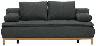BOXSPRINGSOFA in Textil Grau  - Eichefarben/Beige, MODERN, Holz/Textil (202/78/93/100cm) - Venda