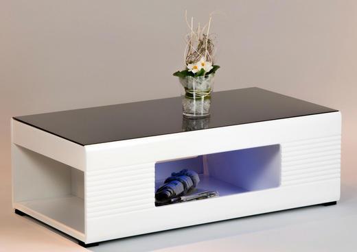 COUCHTISCH rechteckig Schwarz, Weiß - Schwarz/Weiß, Design, Glas (120/40/63cm) - Carryhome