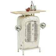 BAR, bílá, přírodní barvy - bílá/přírodní barvy, Trend, kov/dřevo (80/100/35cm) - Ambia Home