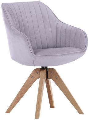 STOL - ljusgrå/ekfärgad, Design, trä/textil (60/83/65cm) - Hom`in