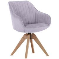 ŽIDLE, textilie, světle šedá, - barvy dubu/světle šedá, Design, dřevo/textilie (60/83/65cm) - Hom`in