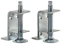 Ausgleichsfusspar Unit Bei Bodenunebenheit - Alufarben, MODERN, Metall (4/6/3cm) - Ombra