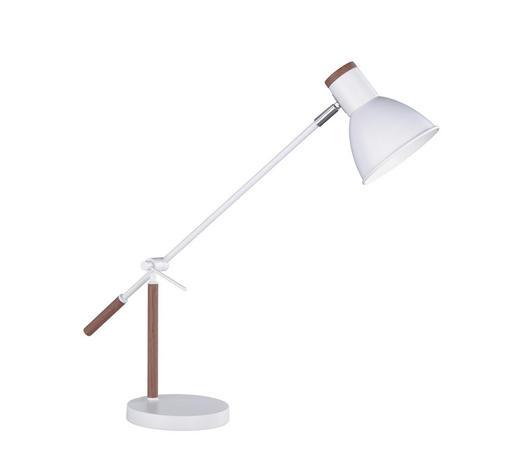 SCHREIBTISCHLEUCHTE - Nussbaumfarben/Weiß, Design, Metall (75cm)