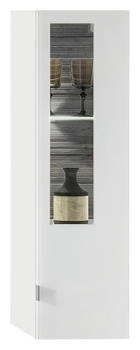 ZÁVĚSNÝ DÍL, barvy grafitu, bílá, - bílá/barvy stříbra, Design, dřevěný materiál/sklo (30/106/38cm) - Stylife