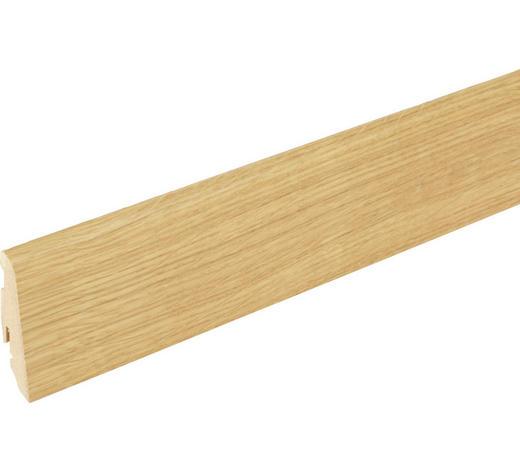 LIŠTA SOKLOVÁ  (za kus) - barvy dubu, Basics, dřevo (240/1,9/5,8cm)