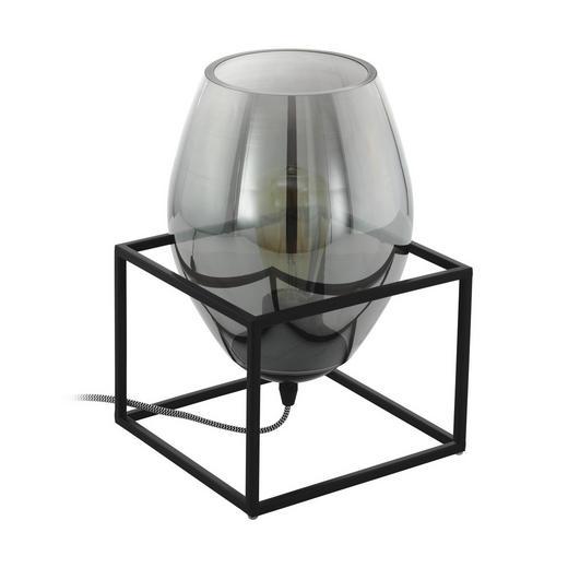 TISCHLEUCHTE - Schwarz, Trend, Glas/Metall (20/20/30,5cm)
