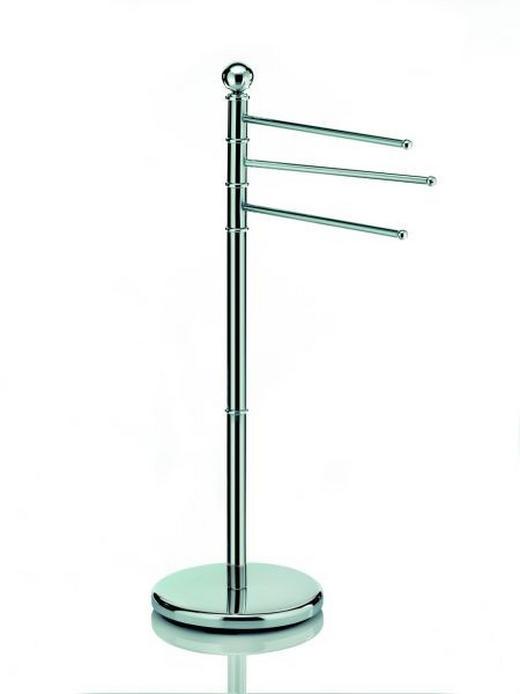 HANDTUCHHALTER Silberfarben - Silberfarben, Basics, Metall (92cm)