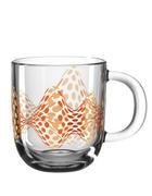 SKODELICA - prosojna/oranžna, Basics, steklo (12,50/10,00/8,70cm) - Leonardo