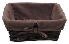 REGALKORB 25/25/10 cm   - Braun, Basics, Holz/Textil (25/25/10cm) - Landscape