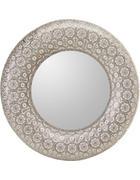 OGLEDALO, 65/65/5 cm kovina, steklo  - srebrna, Trendi, kovina/steklo (65/65/5cm) - Landscape