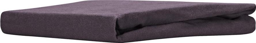 Spannleintuch Regina - Anthrazit, KONVENTIONELL, Textil (180/200cm) - Ombra