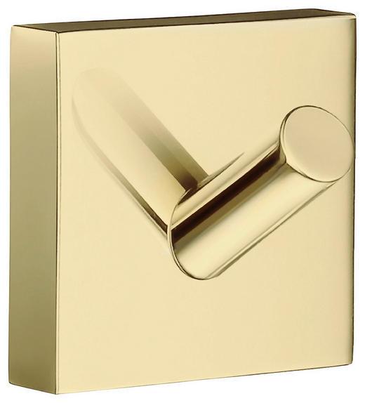 HANDTUCHHAKEN - Goldfarben, LIFESTYLE, Metall (4,5/3,9/4,5cm)